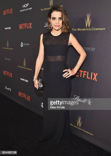 Actress Natalie Morales attends The Weinstein Company and Netflix Golden Globe Party presented with DeLeon Tequila Laura Mercier Lindt Chocolate...