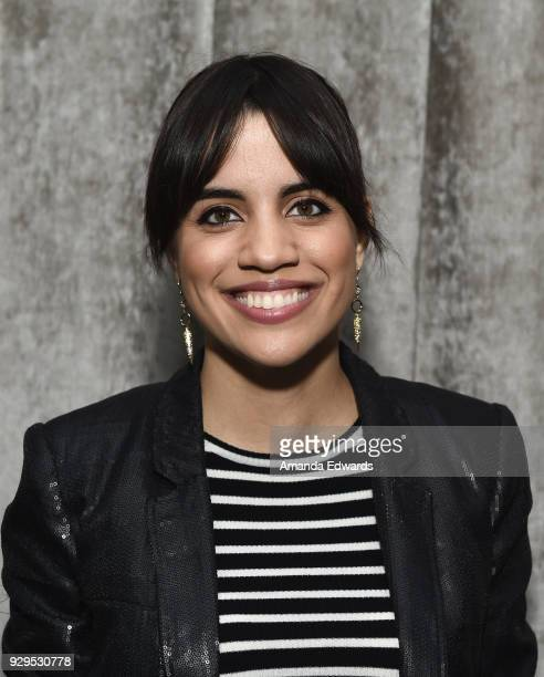 Actress Natalie Morales attends The Wiltern's Women's Day Celebration screening and panel for Battle of the Sexes at The Wiltern on March 8 2018 in...