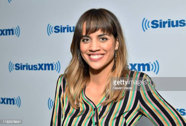 Actress Natalie Morales visits SiriusXM Studios on March 22 2019 in New York City