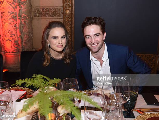 Actress Natalie Portman and actor Robert Pattinson attend the 2016 Los Angeles Dance Project Gala at The Theatre at Ace Hotel Downtown LA on December...
