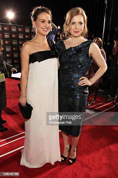 Actress Natalie Portman and Amy Adams arrive at the 16th annual Critics' Choice Movie Awards at the Hollywood Palladium on January 14 2011 in Los...
