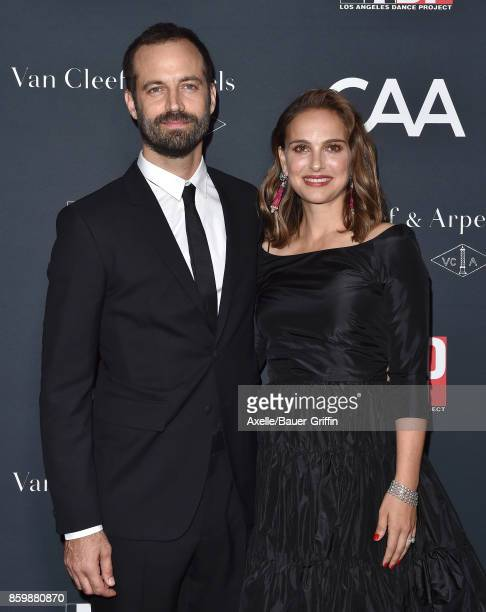 Actress Natalie Portman and choreographer Benjamin Millepied arrive at the LA Dance Project's Annual Gala at LA Dance Project on October 7 2017 in...