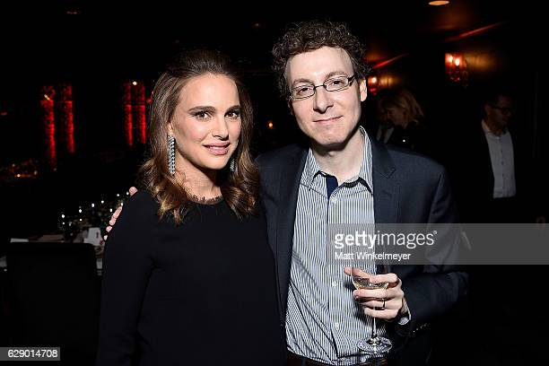 Actress Natalie Portman and composer Nicholas Britell attend the LA Dance Annual Gala at The Theatre at Ace Hotel on December 10 2016 in Los Angeles...