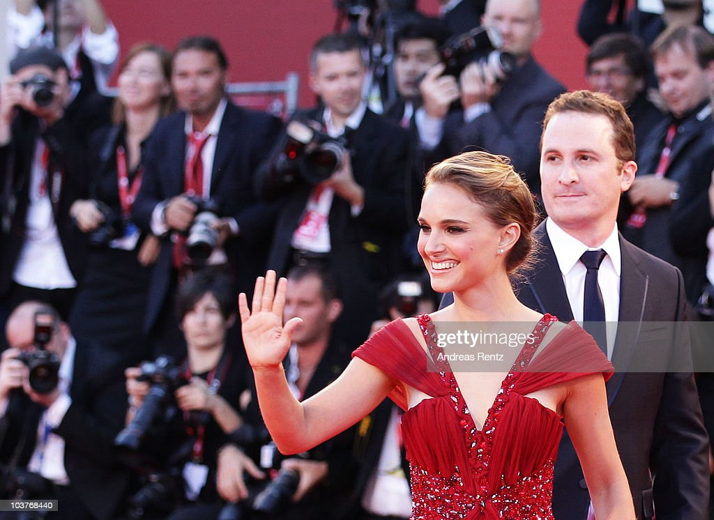 Actress Natalie Portman and director Darren Aronofski attends the Opening Ceremony and 'Black Swan' premiere during the 67th Venice Film Festival at the Sala Grande Palazzo Del Cinema on September 1, 2010 in Venice, Italy.