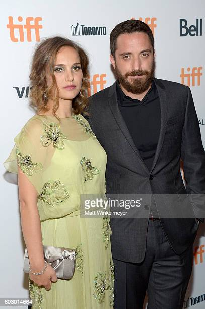 Actress Natalie Portman and Director Pablo Larrain attend the 'Jackie' premiere during the 2016 Toronto International Film Festival at Winter Garden...
