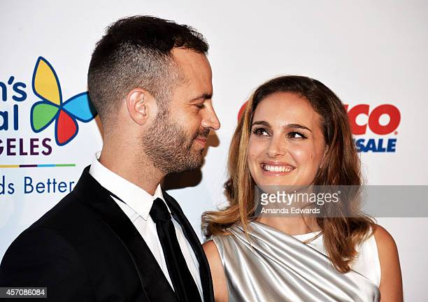 Actress Natalie Portman and her husband Benjamin Millepied arrive at the Children's Hospital Los Angeles Gala Noche de Ninos at the LA Live Event...