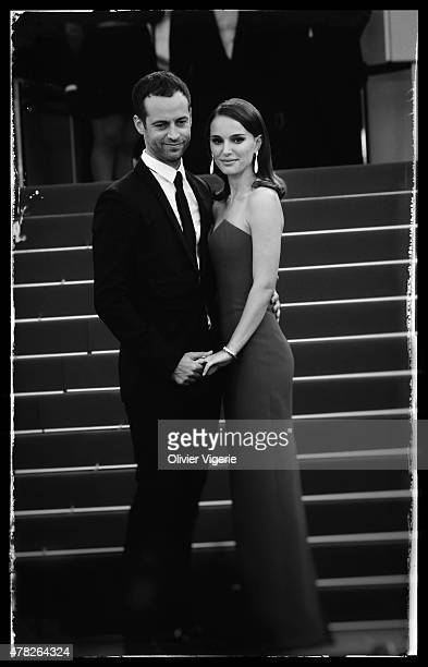 Actress Natalie Portman and husband Benjamin Millepied are photographed on May 15 2015 in Cannes France