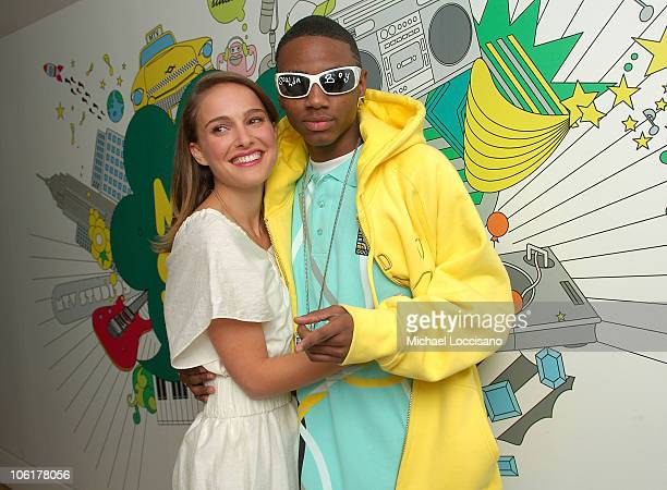 Actress Natalie Portman and rapper Soulja Boy appears on MTV's TRL at MTV's Times Square Studio in New York City on November 12 2007 The air date for...