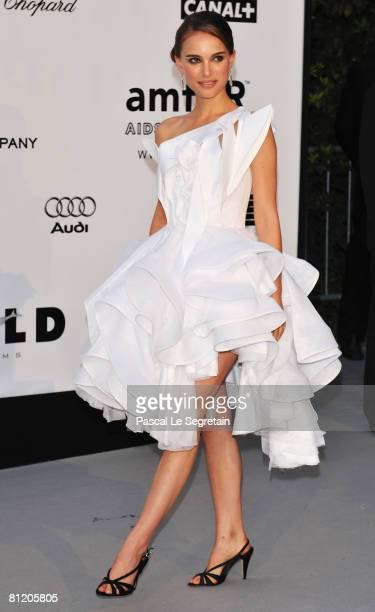Actress Natalie Portman arrives at amfAR's Cinema Against AIDS 2008 benefit held at Le Moulin de Mougins during the 61st International Cannes Film...