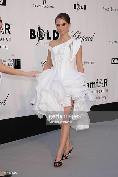 Actress Natalie Portman arrives at amfAR's Cinema Against AIDS 2008 benefit held at Le Moulin de Mougins during the 61st International Cannes Film...