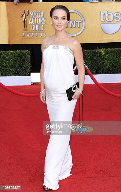 Actress Natalie Portman arrives at the 17th Annual Screen Actors Guild Awards held at The Shrine Auditorium on January 30, 2011 in Los Angeles,...