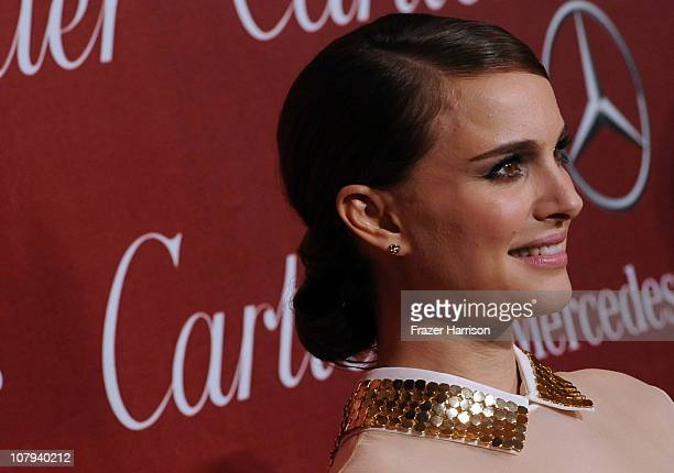 Actress Natalie Portman arrives at the 2011 Palm Springs International Film Festival Awards Gala at the Palm Springs Convention Centre on January 8...