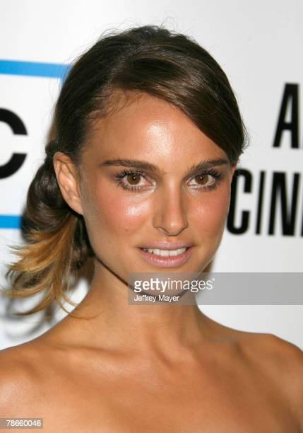 Actress Natalie Portman arrives at The 22nd Annual American Cinematheque Award at the Beverly Hilton Hotel on October 12 2007 in Beverly Hills...