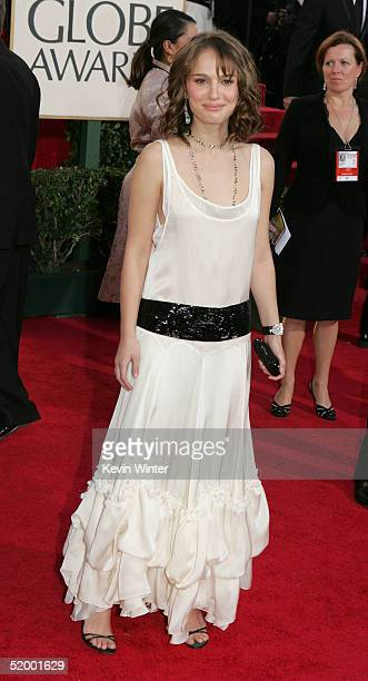 Actress Natalie Portman arrives at the 62nd Annual Golden Globe Awards at the Beverly Hilton Hotel January 16 2005 in Beverly Hills California