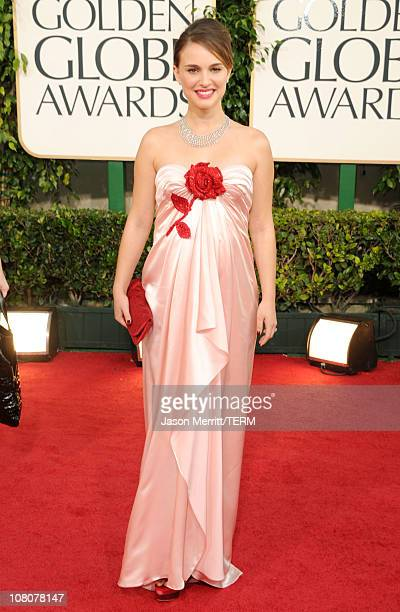 Actress Natalie Portman arrives at the 68th Annual Golden Globe Awards held at The Beverly Hilton hotel on January 16, 2011 in Beverly Hills,...