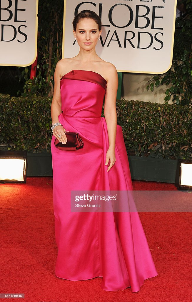 Actress Natalie Portman arrives at the 69th Annual Golden Globe Awards held at the Beverly Hilton Hotel on January 15, 2012 in Beverly Hills, California.