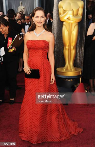 Actress Natalie Portman arrives at the 84th Annual Academy Awards held at the Hollywood & Highland Center on February 26, 2012 in Hollywood,...