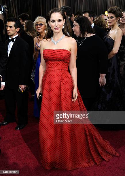 Actress Natalie Portman arrives at the 84th Annual Academy Awards held at the Hollywood Highland Center on February 26 2012 in Hollywood California