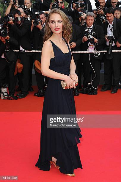 Actress Natalie Portman arrives at the Indiana Jones and The Kingdom of The Crystal Skull Premiere at the Palais des Festivals during the 61st...
