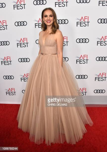 Actress Natalie Portman arrives for the AFI special screening of 'Vox Lux' at the Egyptian theatre in Hollywood on November 9 2018