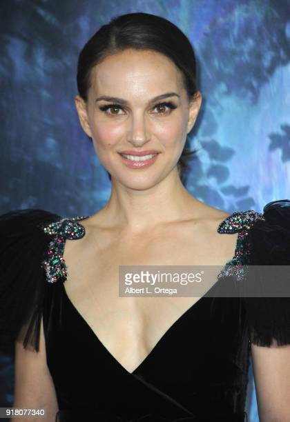 Actress Natalie Portman arrives for the premiere of Paramount Pictures' 'Annihilation' held at Regency Village Theatre on February 13 2018 in...