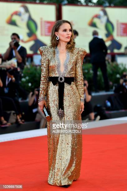 Actress Natalie Portman arrives for the premiere of the film Vox Lux presented in competition on September 4 2018 during the 75th Venice Film...