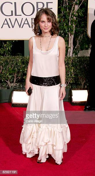 Actress Natalie Portman arrives to the 62nd Annual Golden Globe Awards at the Beverly Hilton Hotel January 16 2005 in Beverly Hills California