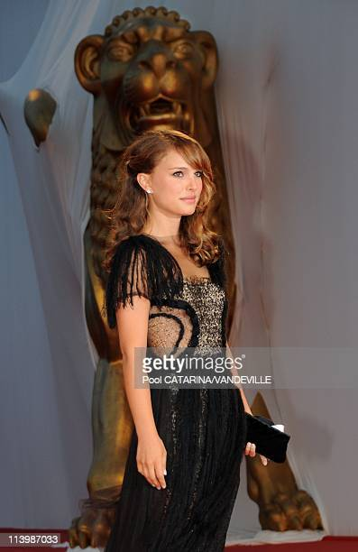 S actress Natalie Portman at the 65th Venice Film Festival In Venice Italy On September 01 2008US actress Natalie Portman attends the 'Birdwatchers...
