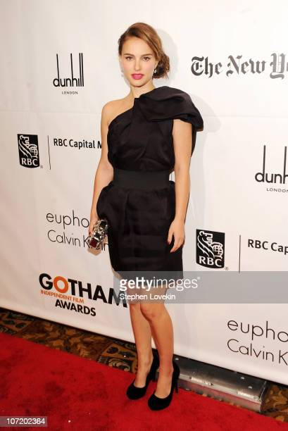 Actress Natalie Portman attends IFP's 20th Annual Gotham Independent Film Awards at Cipriani Wall Street on November 29 2010 in New York City