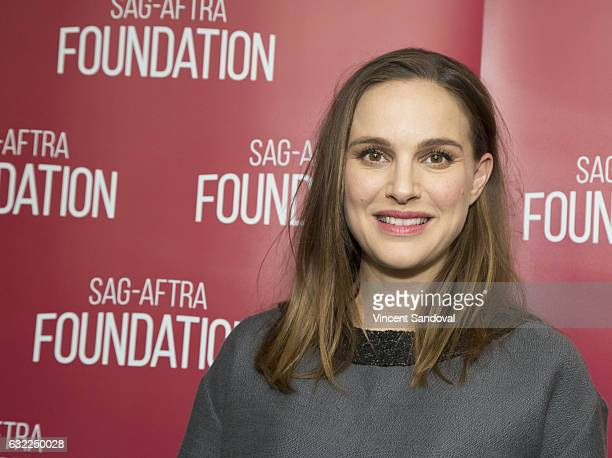 Actress Natalie Portman attends SAGAFTRA Foundation's Conversations with 'Jackie' at SAGAFTRA Foundation Screening Room on January 20 2017 in Los...