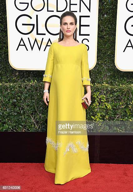 Actress Natalie Portman attends the 74th Annual Golden Globe Awards at The Beverly Hilton Hotel on January 8, 2017 in Beverly Hills, California.