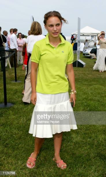 Actress Natalie Portman attends the 8th annual MercedesBenz Polo Challenge July 13 2002 in Bridgehampton New York