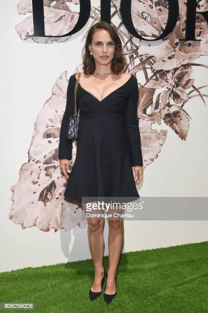 Actress Natalie Portman attends the Christian Dior Haute Couture Fall/Winter 20172018 show as part of Haute Couture Paris Fashion Week on July 3 2017...