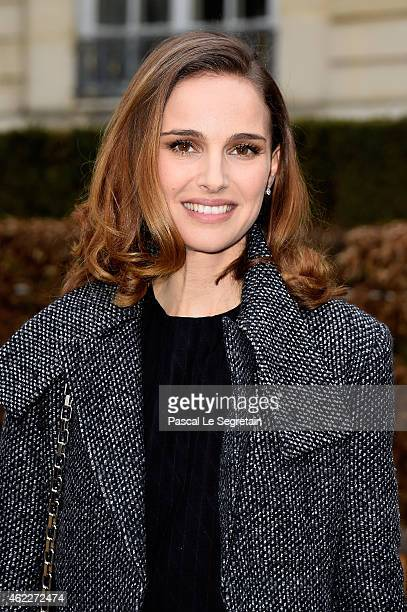Actress Natalie Portman attends the Christian Dior show as part of Paris Fashion Week Haute Couture Spring/Summer 2015 on January 26 2015 in Paris...