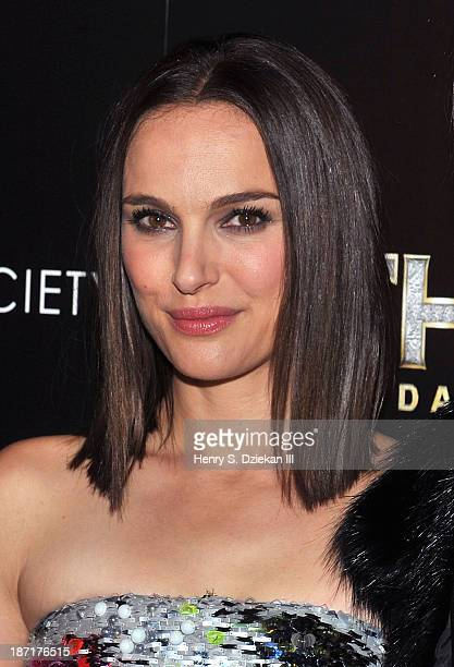 """Actress Natalie Portman attends The Cinema Society & Dior Beauty screening of """"Thor: The Dark World"""" at Crosby Street Hotel on November 6, 2013 in..."""