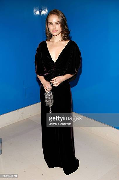 """Actress Natalie Portman attends the Dinner Party following the Private Screening of """"The other Boylen girl"""" at Christies on February 26, 2008 in New..."""