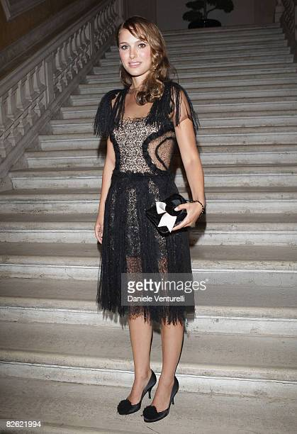 """Actress Natalie Portman attends the """"Gucci Group Award"""" at the Palazzo Grassi during the 65th Venice Film Festival on September 1, 2008 in Venice,..."""