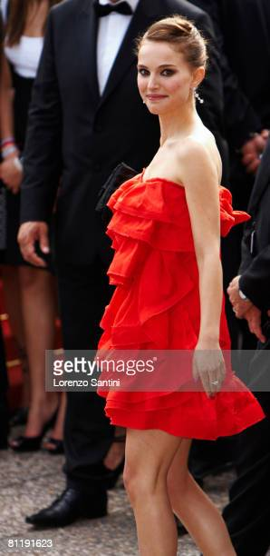 Actress Natalie Portman attends the 'I Am Because We Are' premiere at the Palais des Festivals during the 61st International Cannes Film Festival May...
