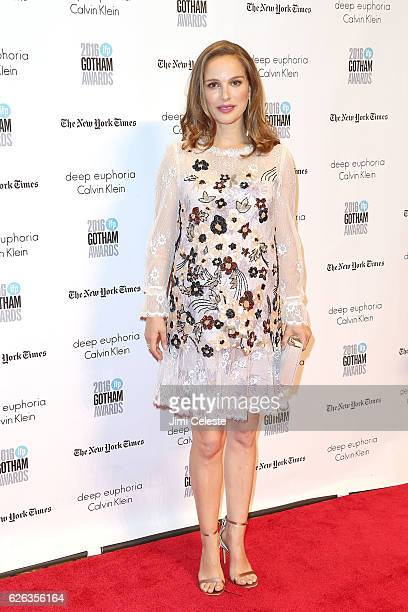 Actress Natalie Portman attends The Independent Filmmaker Project's 26th Annual Gotham Independent Film Awards at Cipriani Wall Street on November 28...