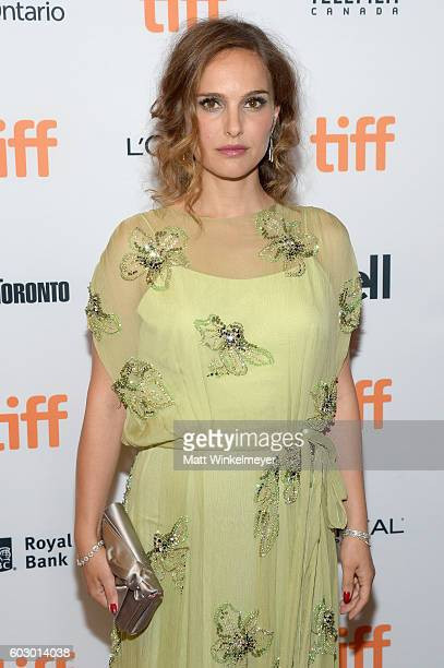 Actress Natalie Portman attends the 'Jackie' premiere during the 2016 Toronto International Film Festival at Winter Garden Theatre on September 11...