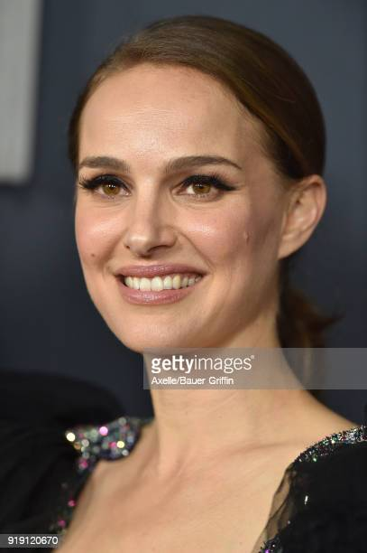 Actress Natalie Portman attends the Los Angeles premiere of 'Annihilation' at Regency Village Theatre on February 13 2018 in Westwood California