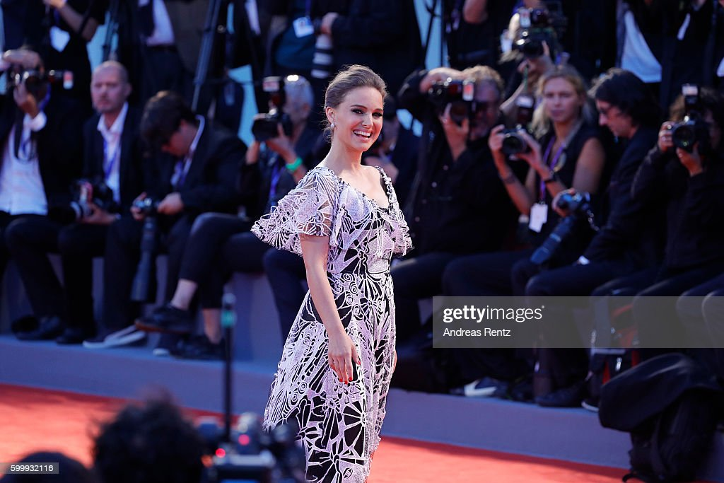 Actress Natalie Portman attends the premiere of 'Jackie' during the 73rd Venice Film Festival at Sala Grande on September 7, 2016 in Venice, Italy.