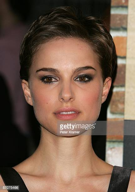Actress Natalie Portman attends the premiere of V For Vendetta at The Rose Theater at Lincoln Center on March 13 2006 in New York City