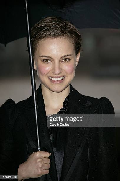 Actress Natalie Portman attends the press junket and photocall for 'V For Vendetta' ahead of this evening's UK Premiere at County Hall on March 8...