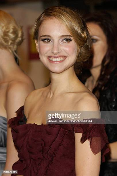 Actress Natalie Portman attends the Royal Film Premiere of 'The Other Boleyn Girl' at the Odeon Cinema, Leicester Square on February19, 2008 in...