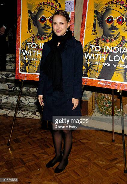 Actress Natalie Portman attends the 'To India With Love From New York To Mumbai' book launch at The Pierre Hotel on November 4 2009 in New York City