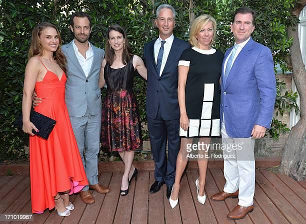 Actress Natalie Portman, choreographer Benjamin Millepied, Catharine Soros, Jeffrey Soros, Sutton Stracke and Christian Stracke attend Benjamin...