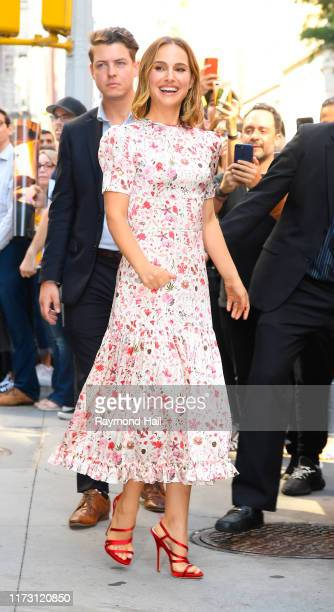 Actress Natalie Portman is seen outside the Build Studio on October 2 2019 in New York City