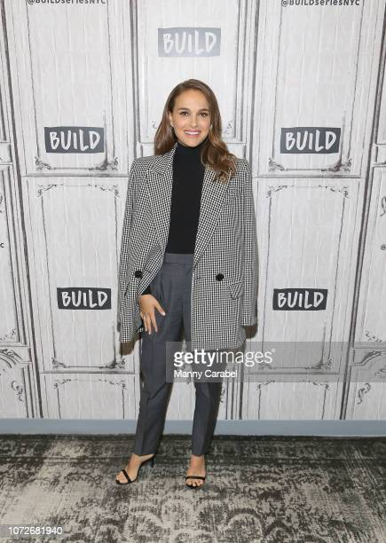 Actress Natalie Portman visits Build Series to discuss her new film 'Vox Lux' at Build Studio on December 13 2018 in New York City