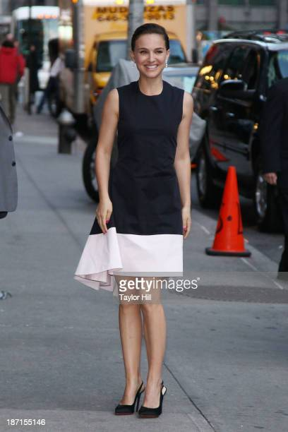 Actress Natalie Portman visits 'Late Show with David Letterman' at Ed Sullivan Theater on November 6 2013 in New York City